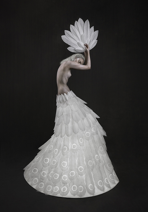 White Peacock Dress