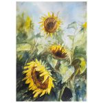 Sunflowers – Original Watercolour
