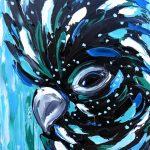 Aqua Black Cockatoo