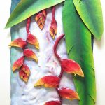 Heliconias-  3D sculpture Painting