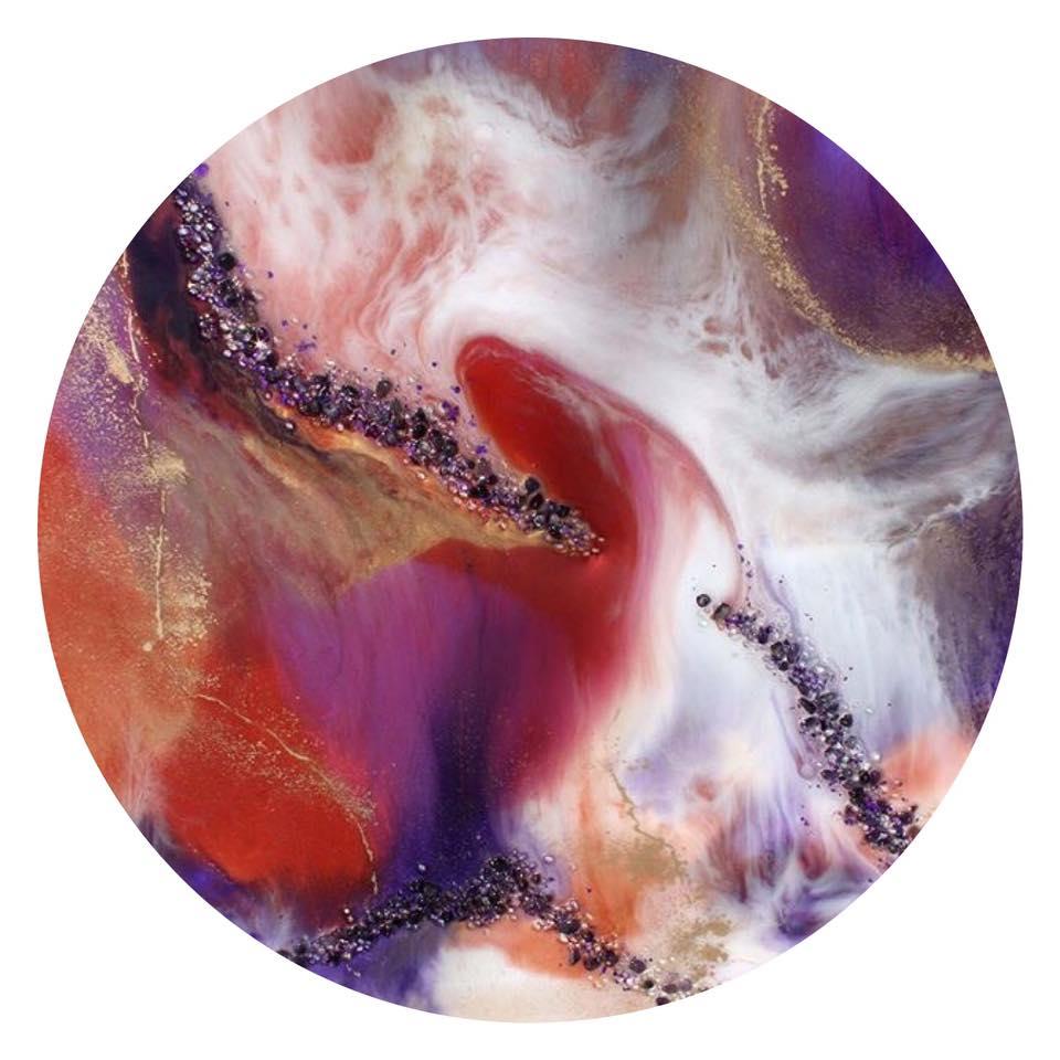 Moonbeam. Gayle Reichelt. 80cm Resin & Gemstones