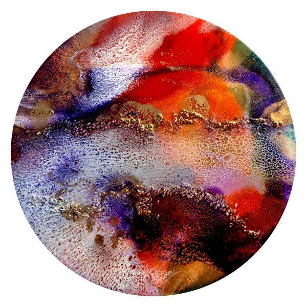 New Beginnings. Gayle Reichelt 60 Resin & Moonstones Artwork. Img 4384