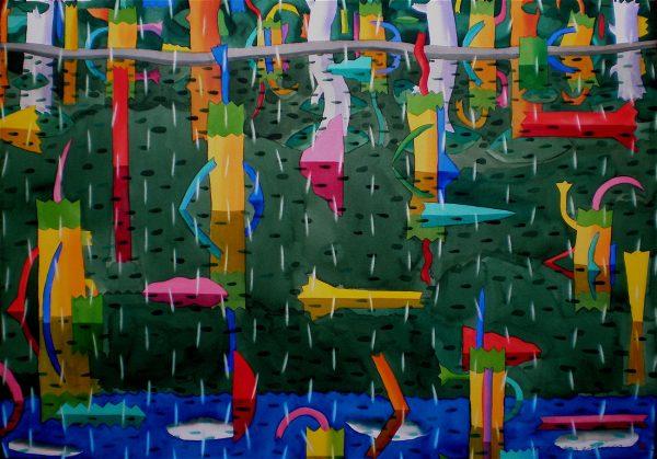 Swamp Reflections: Veil Of Rain 30x40:75x100cm Watercolour