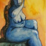 Blue Lady in Vermilion Hue : 1