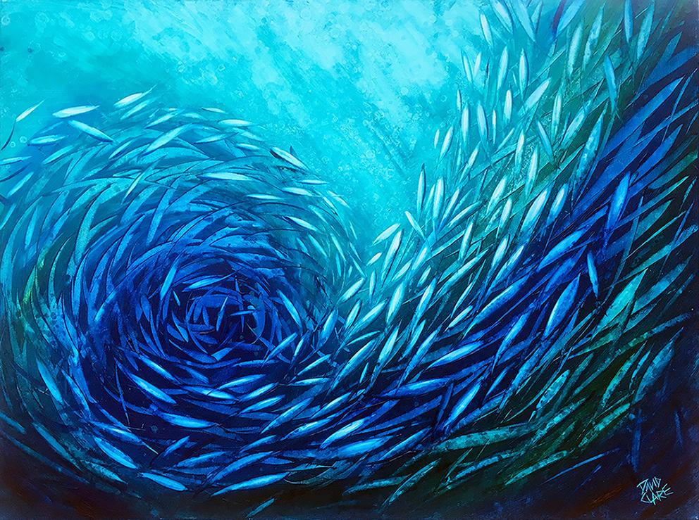 Aqua Fish Swirl Lr
