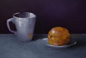 Cup, Plate With Orange