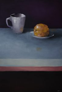 Cup, Plate With Orange C