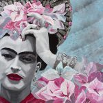 St Frida du Bougainvillier  Ltd Ed Print on 320gsm Cotton Rag