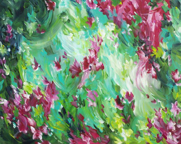 In The Garden By Australian Artist Amber Gittins