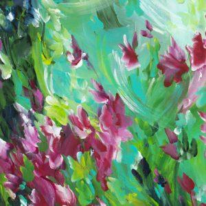 In The Garden By Australian Artist Amber Gittins Crop