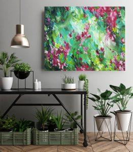 In The Garden By Australian Artist Amber Gittins Mockup