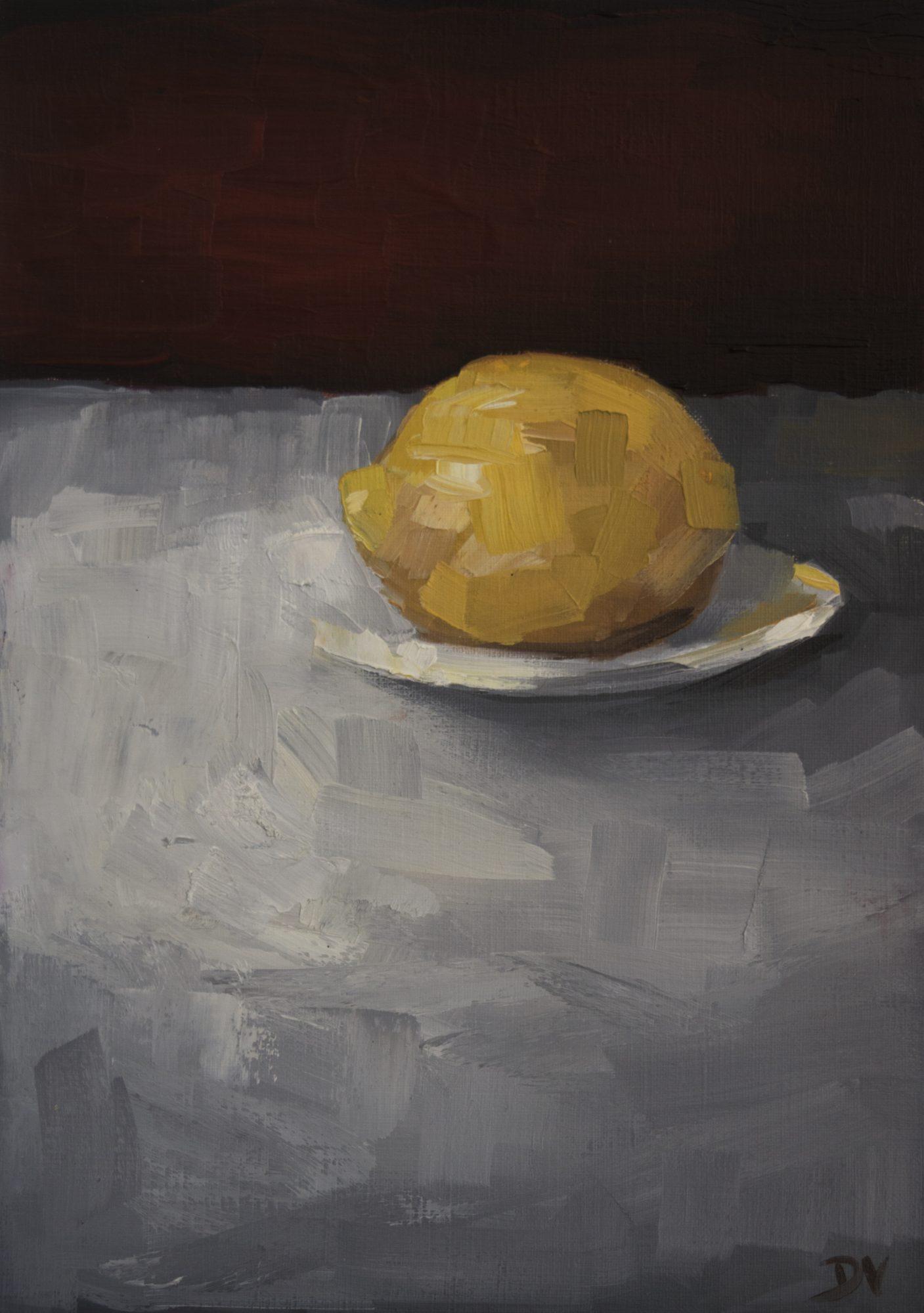 Lemon With Plate 2a
