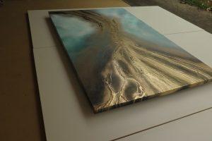""""""" Molten Gold """" Painting By Petra Meikle De Vlas"""