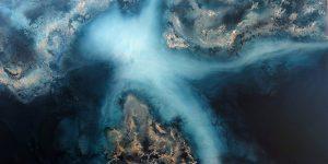 Ocean Blue Art Work Of Petra Meikle De Vlas