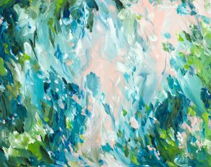 What Lies Beneath Abstract Painting By Artist Amber Gittins