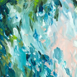 What Lies Beneath Abstract Painting By Artist Amber Gittins Crop