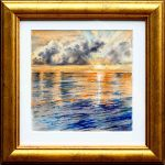 Sunset – Original Watercolour – framed