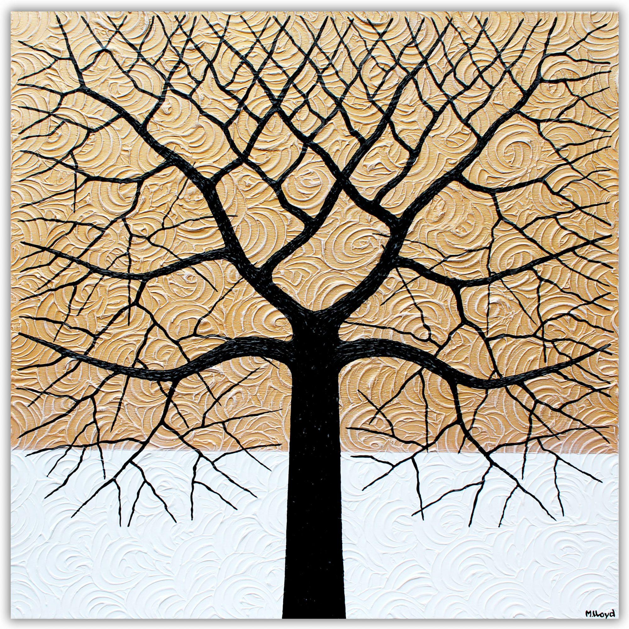 Tree Golden Angelic Tree Miranda Lloyd Artist Australia