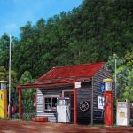 Woods Point historic service station, Ltd Ed Giclee Print