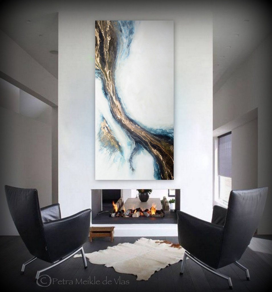 "Large Abstract Wall Art For Sale ""connection"" By Petra Meikle De Vlas"