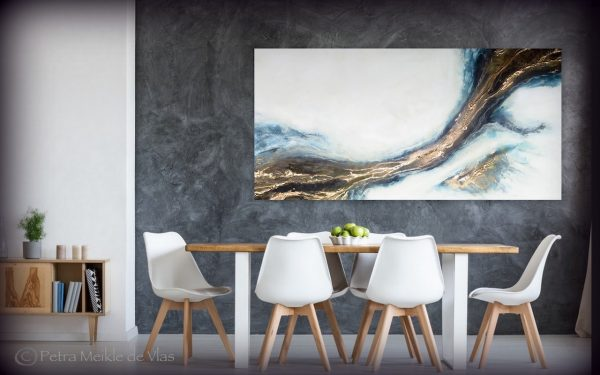 """Large Abstract Wall Art For Sale """"connection"""" Art By Petra Meikle De Vlas"""