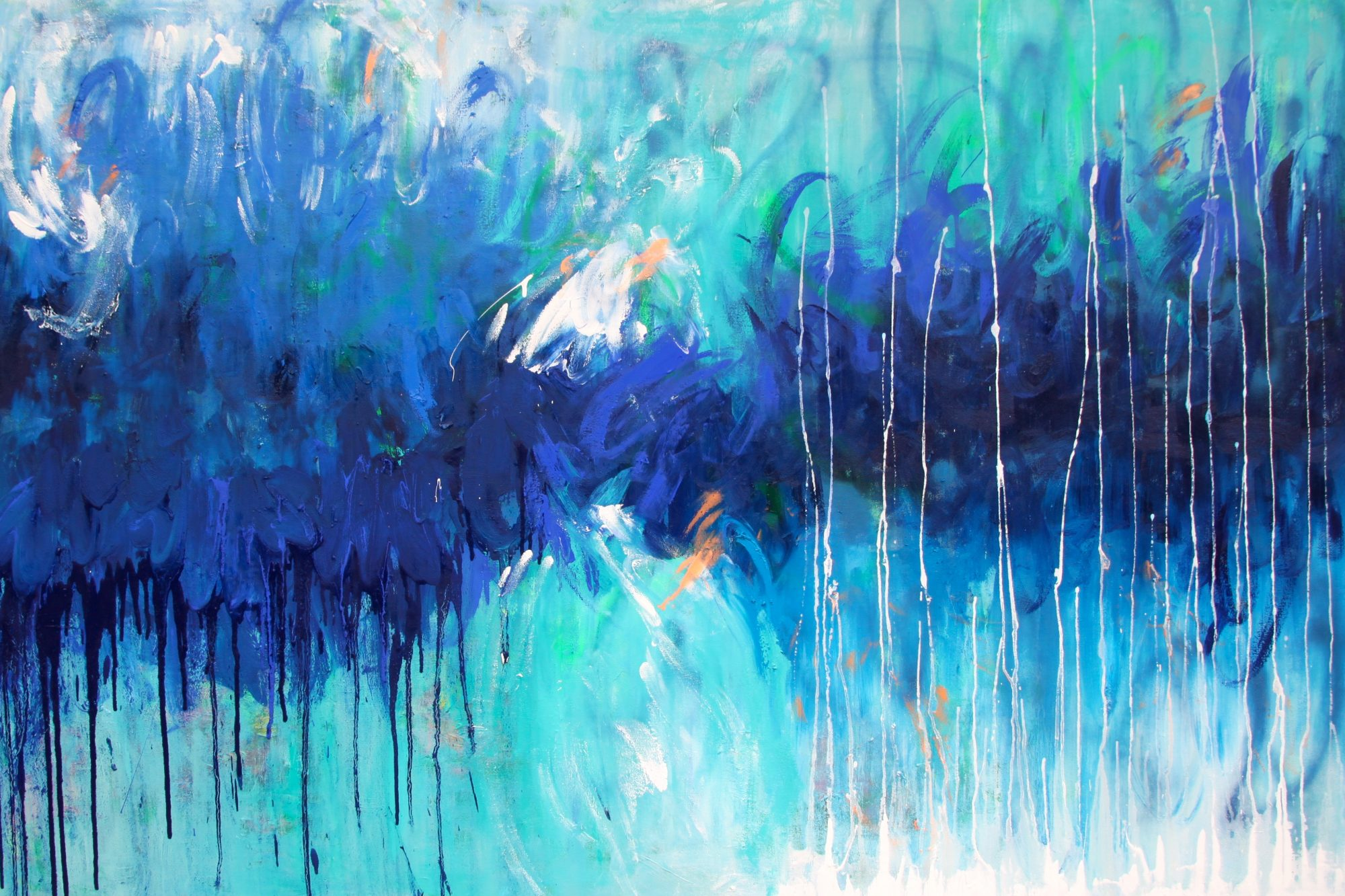 Belinda Nadwie Art Abstract Painting Hidden Depths