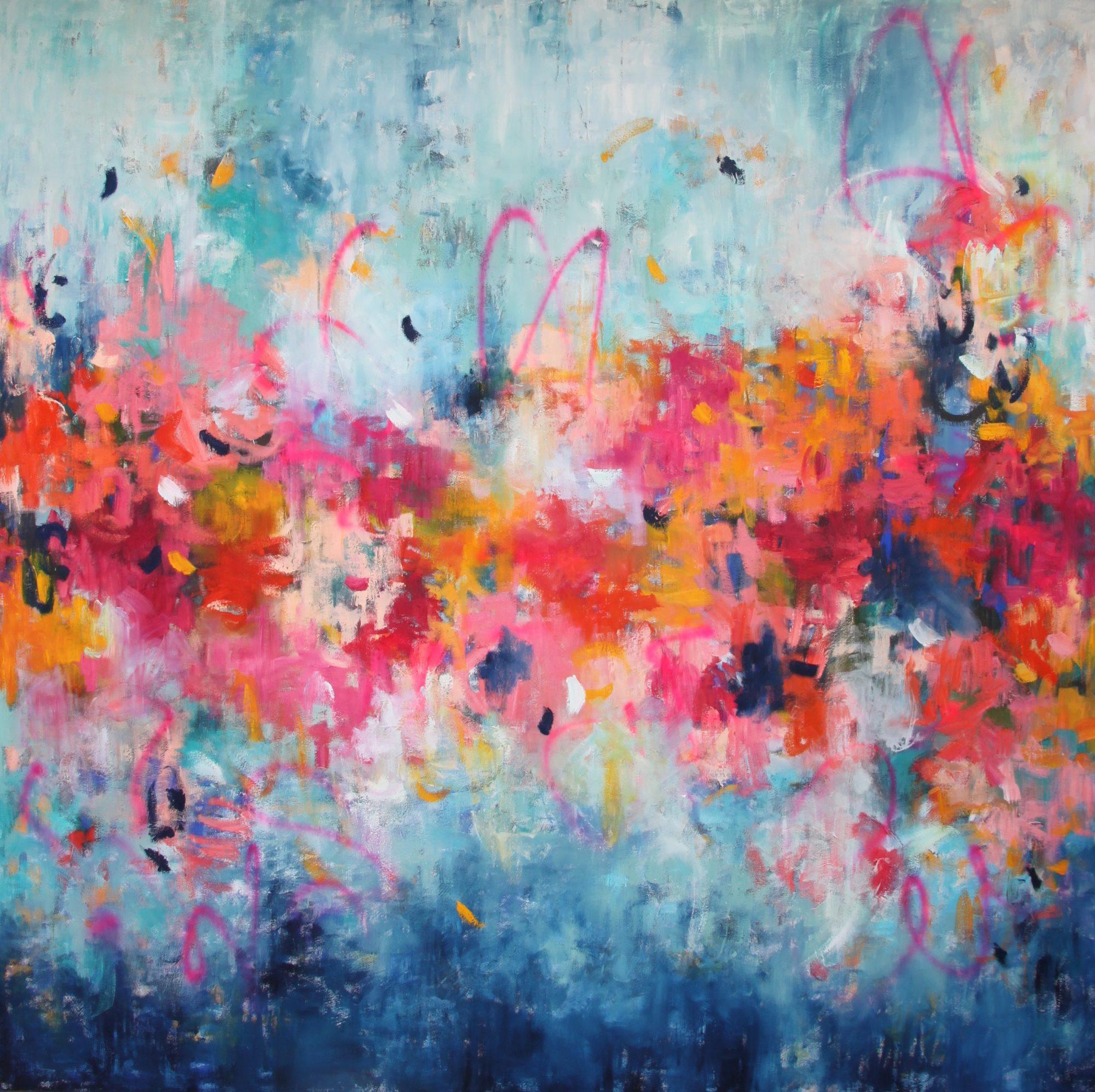 Belinda Nadwie Art Abstract Painting Innocent Heart