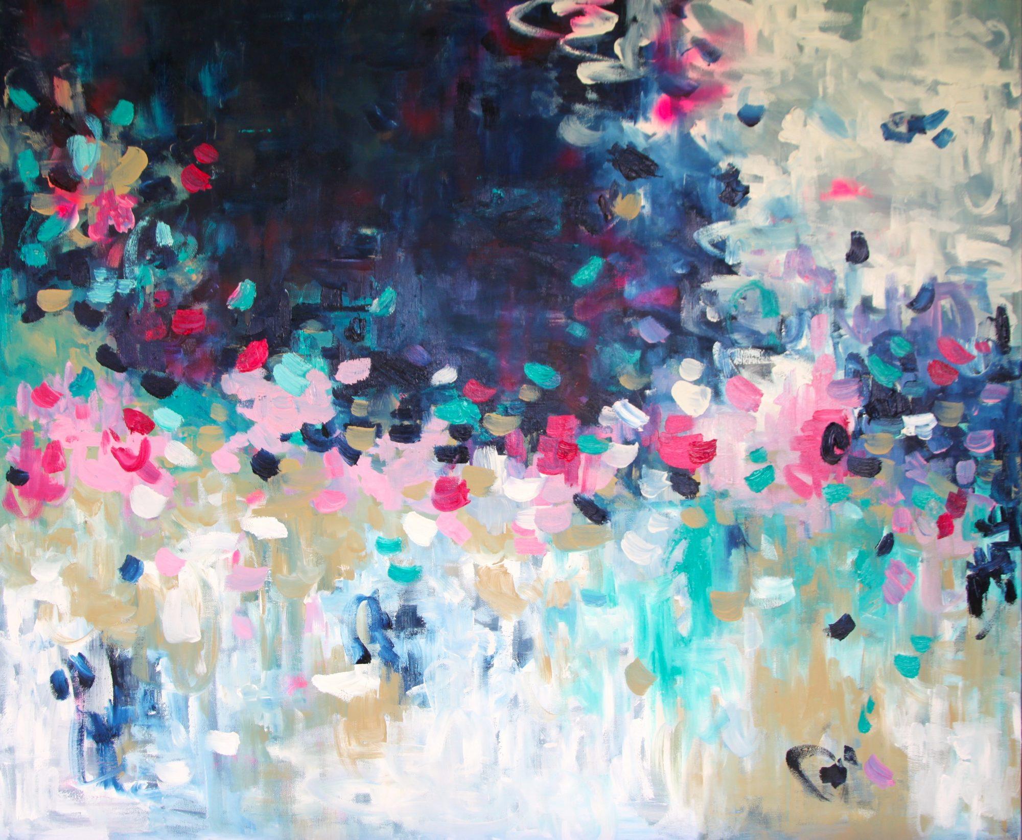 Belinda Nadwie Art Abstract Painting Subtle Kisses