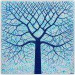 Deep Blue Ocean Tree – SOLD