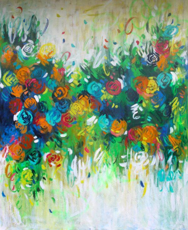 Belinda Nadwie Art Abstract Painting Art Lovers Australia Sunshine In The Hamptons
