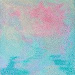 Soft seas I – beach abstract in pinks and blues
