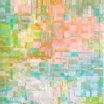 Summer Fields – woven recycled paper abstract painting