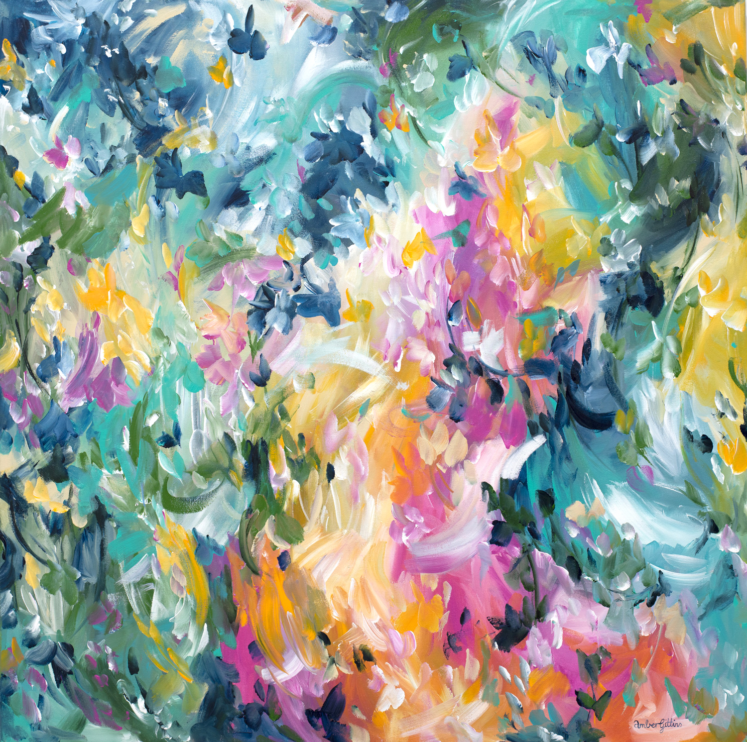 Fearless Love Abstract Painting By Amber Gittins