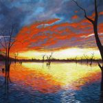 Sunset over Lake Nillahcootie Ltd Ed Giclee Print