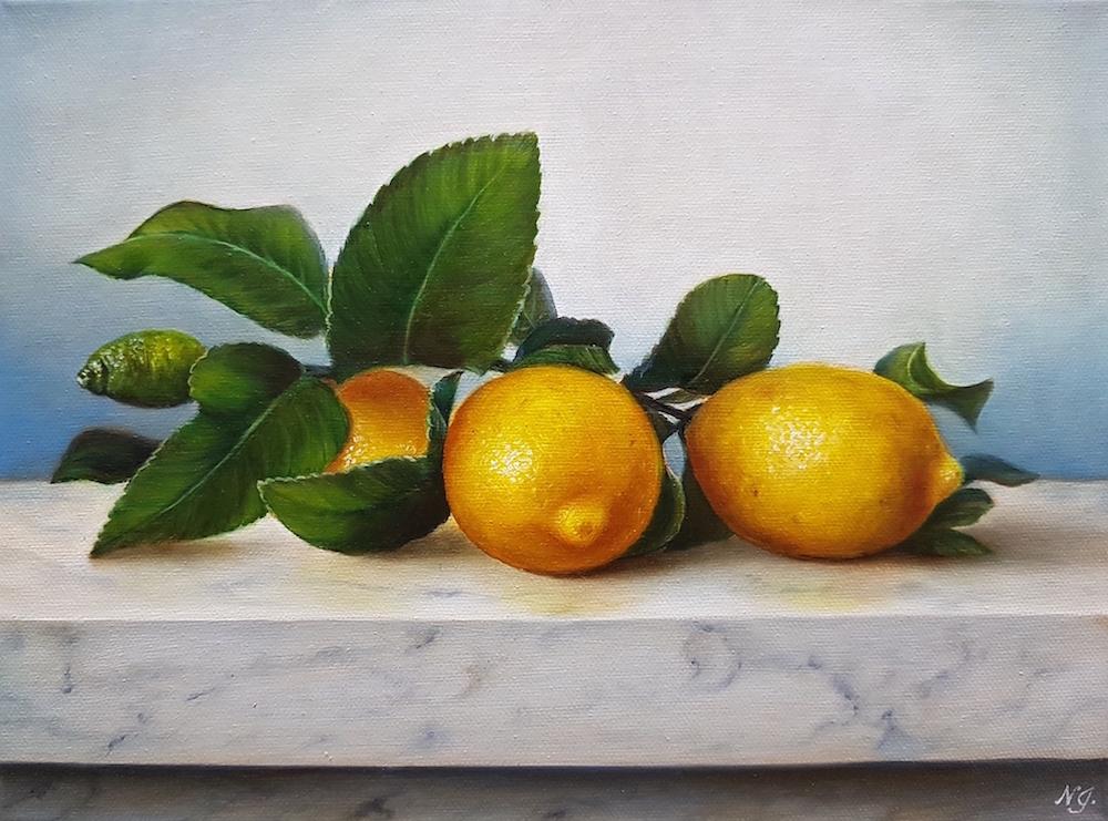 Lemons On Marble Sm