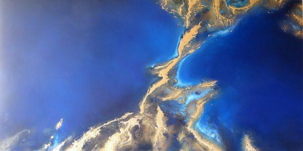 The Shoal Large Ocean Painting For Sale Petra Meikle De Vlas
