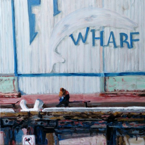 Carmen Griffen Fishing Wharf 2018 Acrylic On Canvas 76 X 60cm