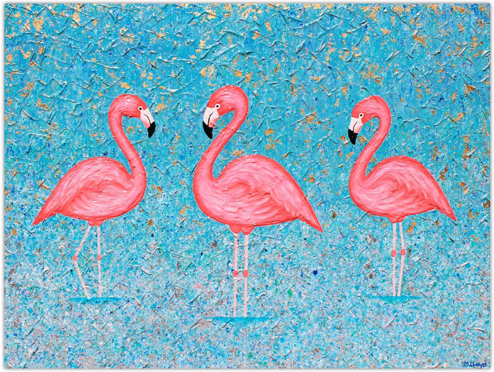 Flamingos Miranda Lloyd Artist South Australia 2019