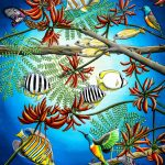 Fish, Feather and Flame Tree Flowers Ltd Ed Print of 30