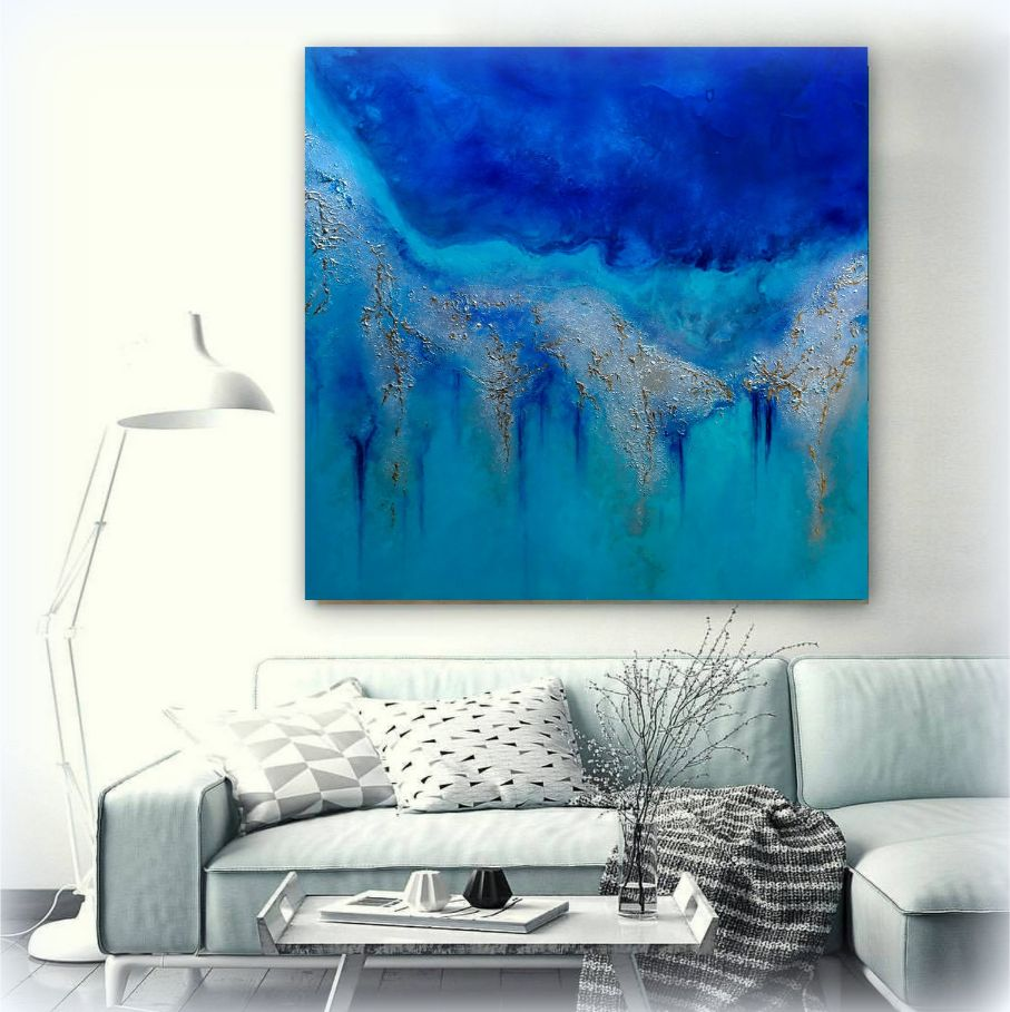 Coral Seas Reefs Edge Painting For Sale By Petra Meikle De Vlas16