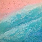 Bondi Beach – abstract aerial landscape painting