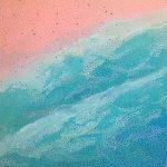 Bondi Beach – abstract aerial landscape painting