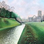 Fountains Abbey Ruins Landscape