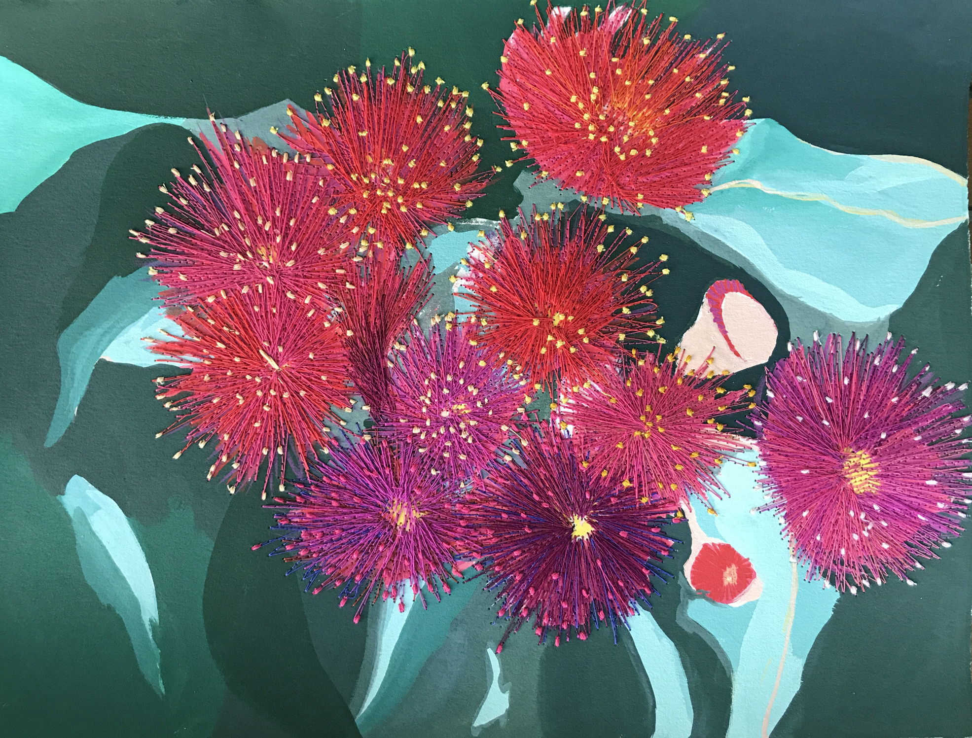Gum Flowers On Show By Leah Gay (2019)