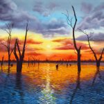Sunrise over Lake Mulwala Ltd Ed Giclee Print