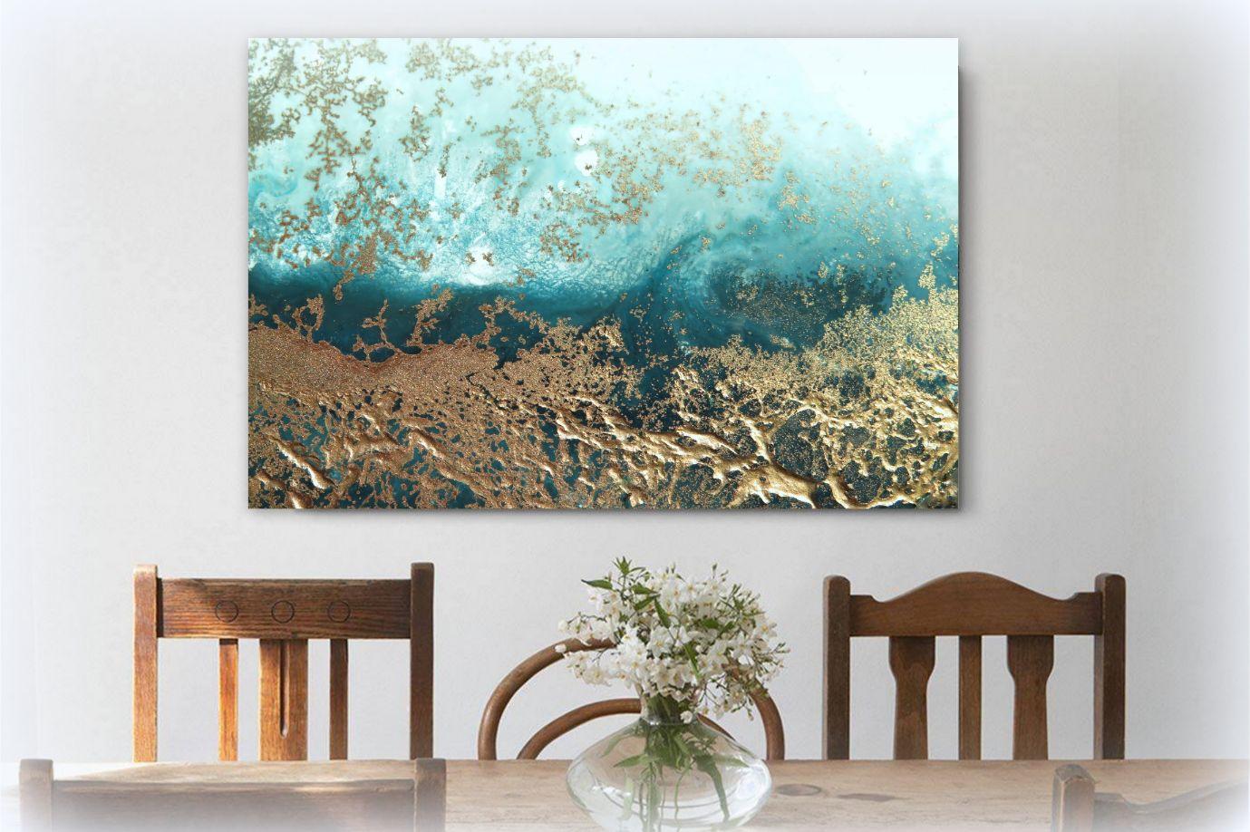 """""""moonlit Surface"""" Canvas Art Print By Petra Meikle De Vlas5"""