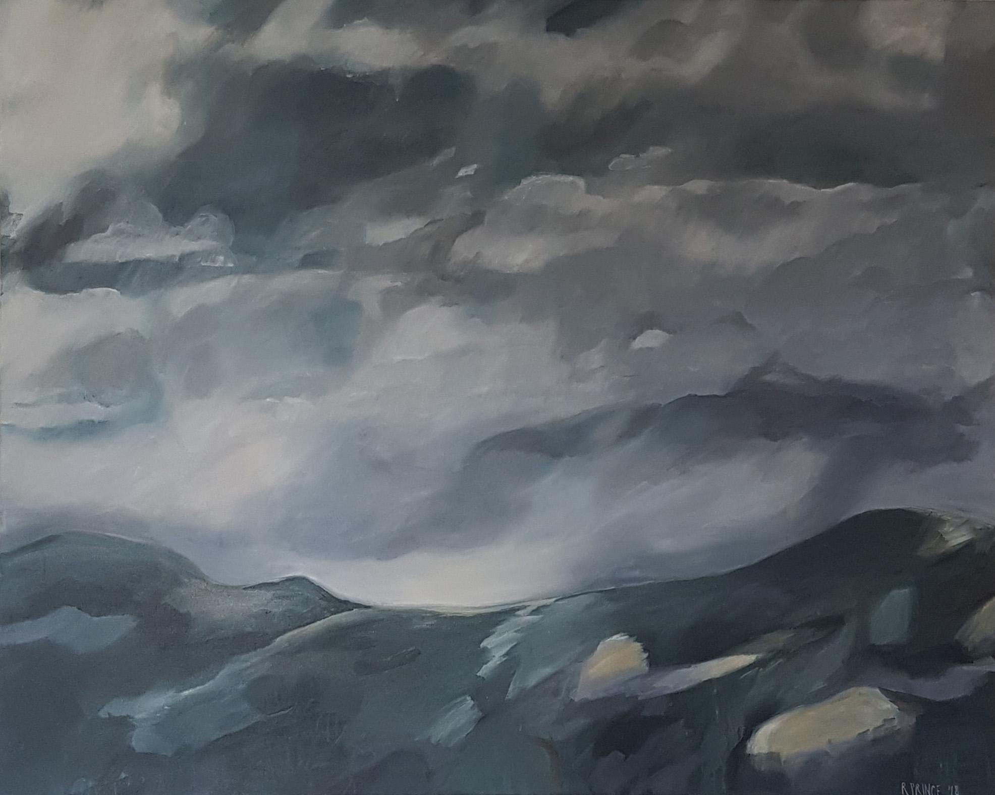 Rachel Prince, Sky Ambience. Acrylic Polymer Paint On Canvas, 154cm X 124cm, $3290