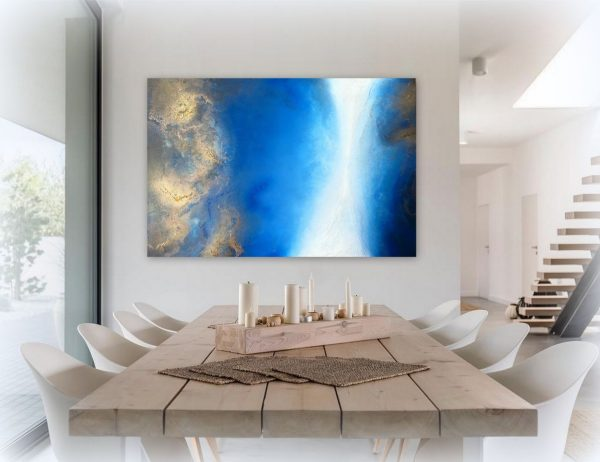 """serenity Shore"" Ocean Painting By Petra Meikle De Vlas9"