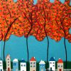 Tiny Town Under The Autumn Trees No.2 Close Up C Web