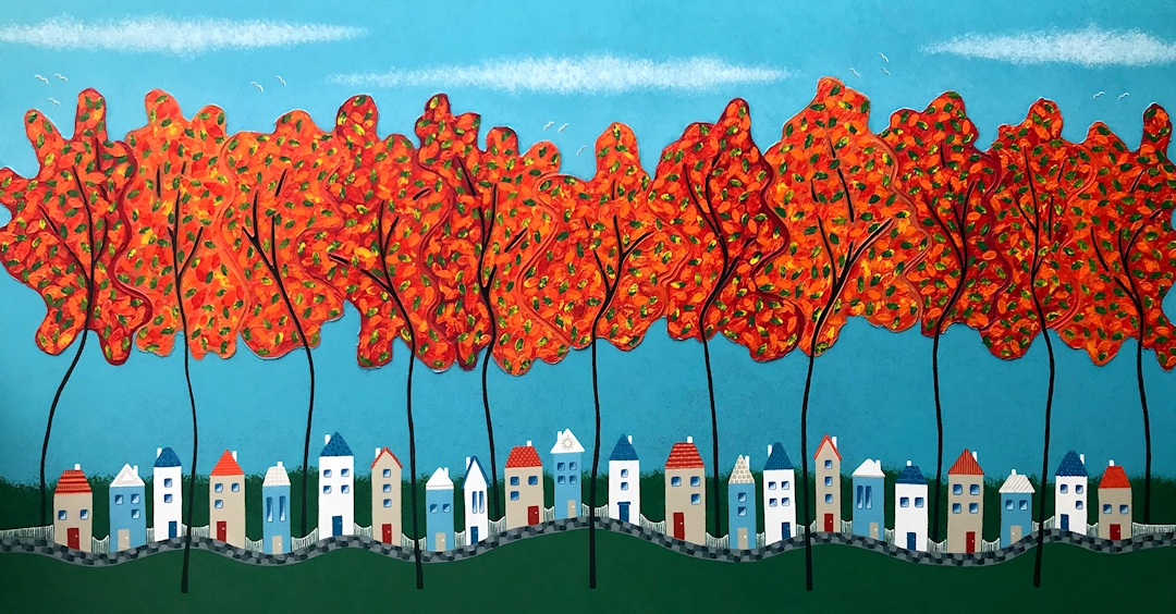 Tiny Town Under The Autumn Trees No.2 Web 2